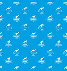 dinosaur lizard pattern seamless blue vector image