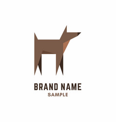 dog logo for dog club or shop vector image
