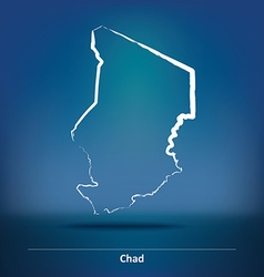 Doodle Map of Chad vector image