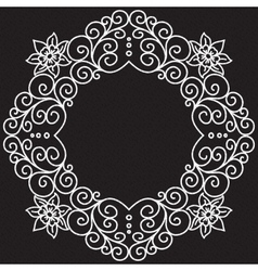 Doodle pattern of spirals swirls and vector