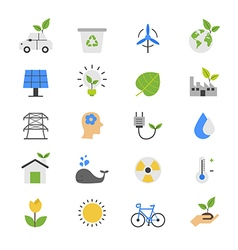 Eco Energy and Environment Flat Color Icons vector