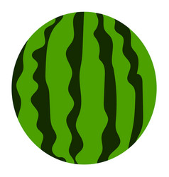 eco watermelon icon flat style vector image