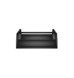 Empty wooden toolbox in black design vector