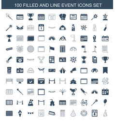 event icons vector image