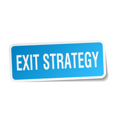 Exit strategy square sticker on white vector