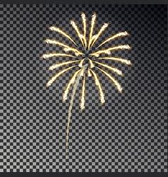 Festive fireworks christmas firecracker light eff vector