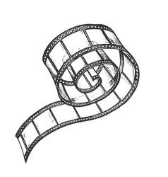 film strip roll for video camera monochrome vector image