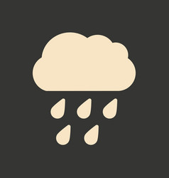 Flat in black and white mobile application rain vector