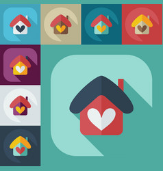 Flat modern design with shadow icons home vector