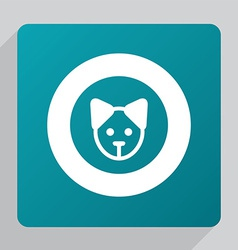 flat puppy icon vector image