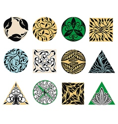 Floral emblems vector image