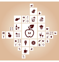 Food the designer vector image