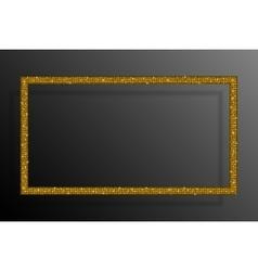 Frame Gold Sequins Rectangle Glitter Sparkle vector