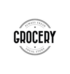 grocery store local market vector image