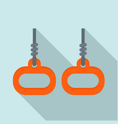 Gymnastics rings icon flat style vector
