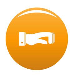 hand concept icon orange vector image