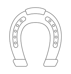 Horseshoe icon in outline style isolated on white vector image
