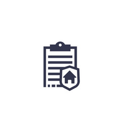 house insurance icon vector image