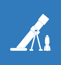 Icon mortar and shell silhouette vector