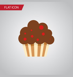 isolated cupcake flat icon muffin element vector image