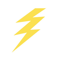 isolated electric thunder vector image