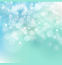light blue bokeh background made from white vector image