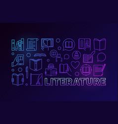Literature colorful vector