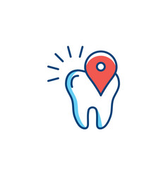 location icon dental care stomatology location vector image