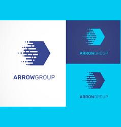 Logo - technology tech arrow icon and symbol vector