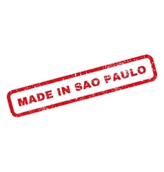 Made In Sao Paulo Rubber Stamp vector