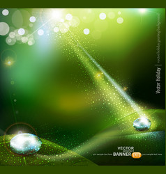 magic drop background vector image