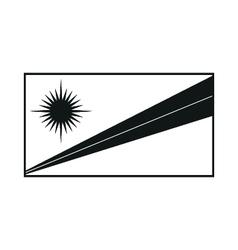 Marshall Islands Flag monochrome on white vector image
