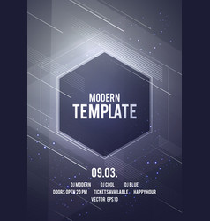 Modern geometric shape dance party poster vector