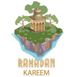 moslems ramadan month welcome greetings vector image