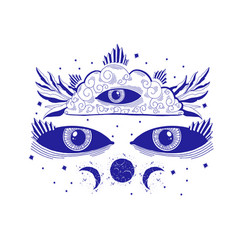 Mystic sight third eye esoteric signmagic life vector