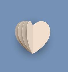 Papercraft heart vector