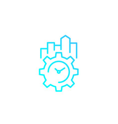 productivity and efficiency linear icon vector image