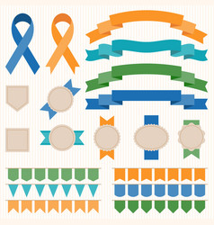 ribbon and badges set 2 vector image