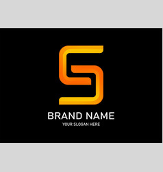 s gradient logo vector image