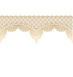 Seamless horizontal islamic pattern vector