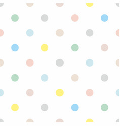 seamless pattern with colorful pastel polka dots vector image