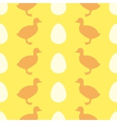 Seamless pattern with duckling vector