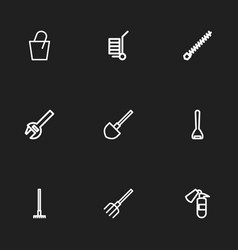 Set of 9 editable instrument icons includes vector