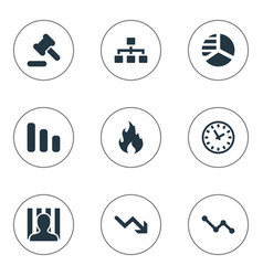 Set simple situation icons vector