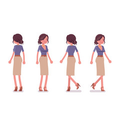 sexy secretary standing and walking vector image