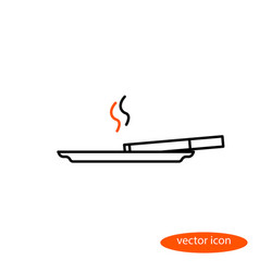 simple image of a thin line of cigarettes vector image