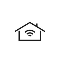 smart home icon graphic design template vector image