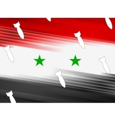 Syrian flag and air warheads vector