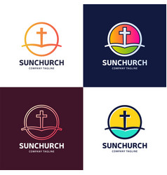 Template logo for churches and christian vector