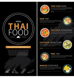 Thai food menu vector